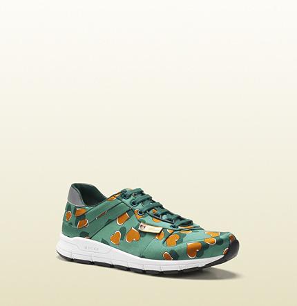 Gucci Heartbeat Satin Sneaker