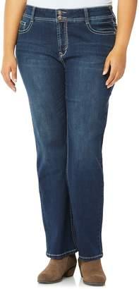 65e05a25cf4 Juniors  Plus Size Wallflower Mid-Rise Bling Bootcut Jeans