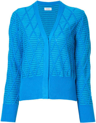 Coohem argyle knit cardigan