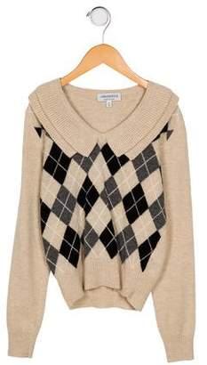 Simonetta Kids Girl's Wool Long Sleeve Sweater