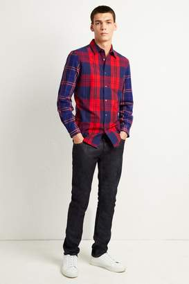 French Connenction Flannel Patchwork Shirt