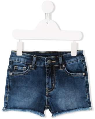 John Richmond Junior Rich print denim shorts