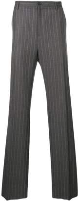 Versace pinstripe tailored trousers