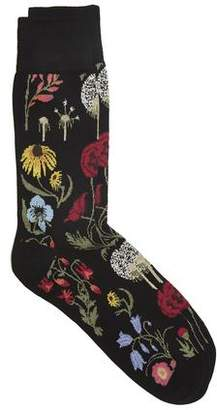 Corgi Exclusive Flower Socks in Black