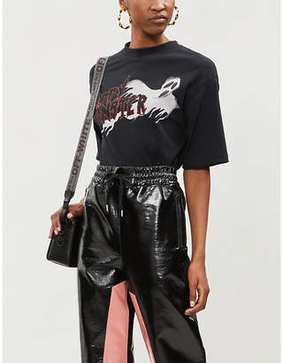 The Kooples Happy Monster printed jersey T-shirt