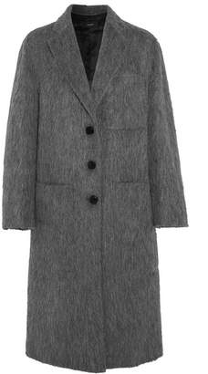 Joseph Jimo Brushed Wool-blend Coat - Gray