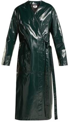 MM6 MAISON MARGIELA Coated Cotton Raincoat - Womens - Dark Green