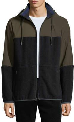 Vince Men's Mixed-Media Hooded Jacket