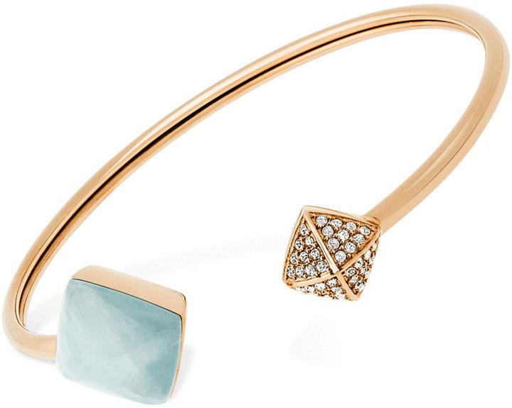MICHAEL Michael KorsMichael Kors Colored Stone and Pavé Pyramid Open Cuff Bracelet