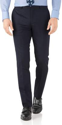 Charles Tyrwhitt Navy Slim Fit Hairline Business Suit Wool Pants Size W40 L32