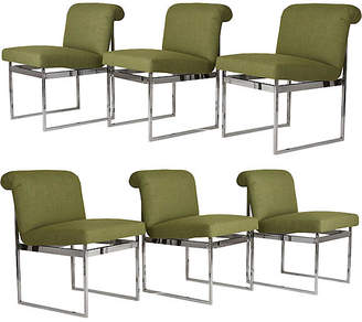 One Kings Lane Vintage Mid-Century Bughman Dining Chairs - Set of 6 - Castle Antiques & Design