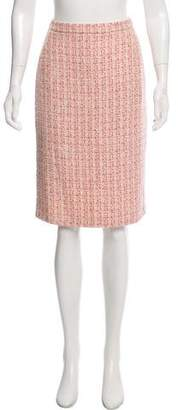 Luciano Barbera Tweed Knee-Length Skirt