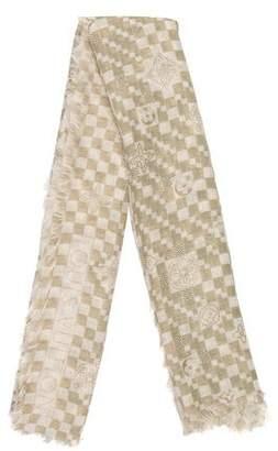 Louis Vuitton Cashmere & Silk-Blend Monogram Scarf
