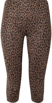 Matteo Olympia Activewear Cropped Leopard-print Stretch-jersey Leggings
