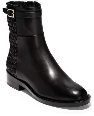 Cole Haan Lexi Quilted Stretch Panel Leather Boot