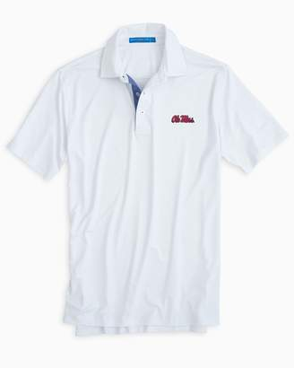 Southern Tide Ole Miss Rebels Plaid Placket Polo Shirt