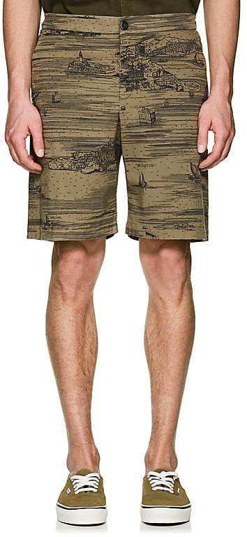 Barena Venezia Men's Venice-Print Cotton Shorts