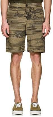 Barena Venezia Men's Venice-Print Cotton Shorts