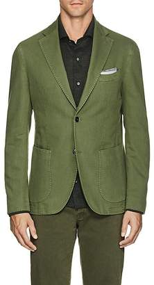 Barneys New York Men's Basket-Weave Cotton-Linen Two-Button Sportcoat