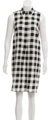Jenni Kayne Silk & Linen Gingham Dress