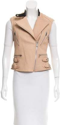 Celine Leather Moto Vest