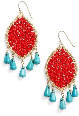 Women's Panacea Beaded Drop Earrings $34 thestylecure.com
