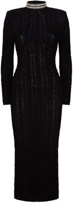 Balmain Embellished Boucle Gown