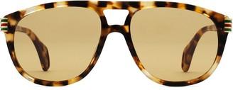 Aviator sunglasses with enamel Web