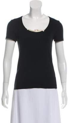 Brunello Cucinelli Layered Rib Knit T-Shirt