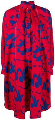 Marni long-sleeve printed shirt dress