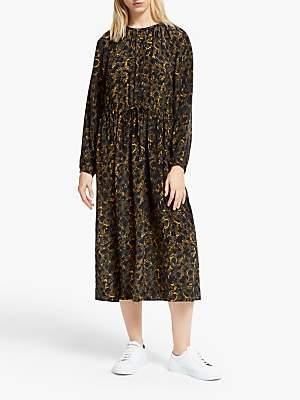 Just Female Mie Snake Print Dress, Black