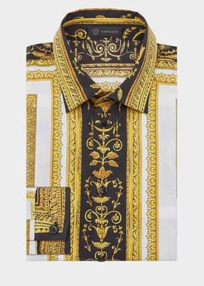 Versace Cornici Print Cotton Shirt