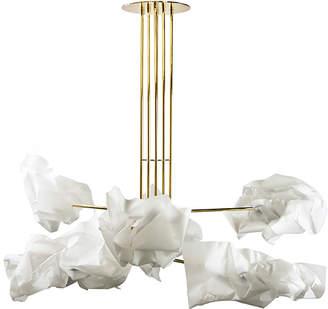Gentner Design Brass & LED Paper Chandelier