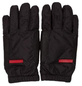 Prada Sport Nylon and Leather Gloves