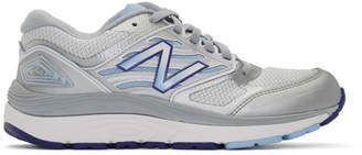 New Balance White and Silver 1340v3 Sneakers