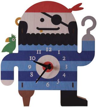 Modern Moose Pirate Wall Clock
