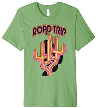 Road Trip Colorful Cacti Graphic Premium T-Shirt
