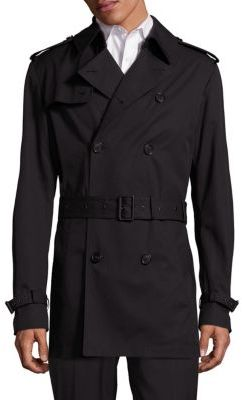 Double-Breasted Short Trench Coat $1,495 thestylecure.com