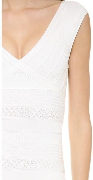 Herve Leger Esti Textured Bandage Gown