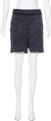 John Galliano Brocade Mini Skirt