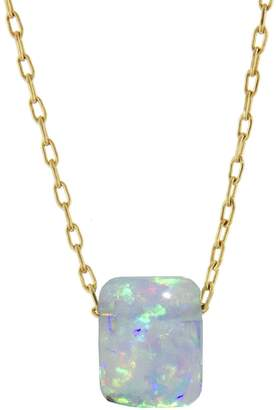 Ten Thousand Things Opal Chicklet Necklace - Yellow Gold