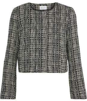 Milly Cropped Cotton-Blend Tweed Jacket