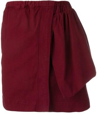 No.21 asymmetric design skirt