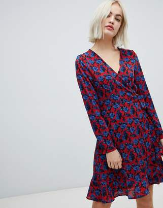 Blend She Trophy floral print wrap dress