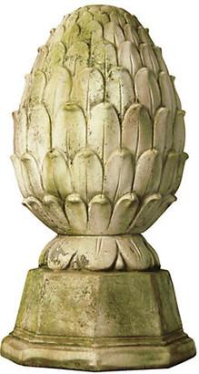 "Orlandi Statuary 19"" Pinecone Britannia - White Moss"