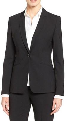 Women's Boss 'Jabina' Stretch Wool Suit Jacket $595 thestylecure.com