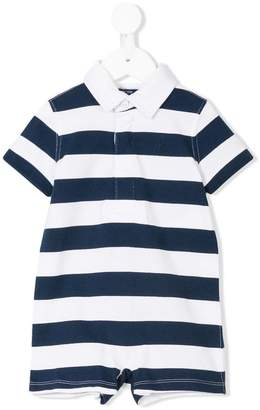 Ralph Lauren Kids striped polo romper suit