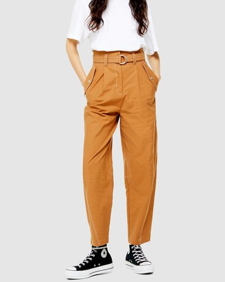Topshop Belt Pocket Utility Peg Trousers