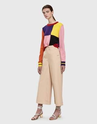 MSGM Colorblock Crewneck Sweater