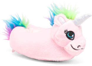 Toddler Girls Rainbow Unicorn Slippers